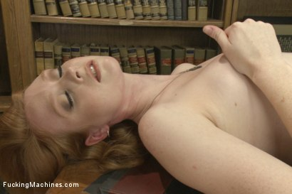 Photo number 2 from BRAND NEW NEVER SHOT PORN BEFORE RED HEAD HOTTIE WITH TIGHT PUSSY! shot for Fucking Machines on Kink.com. Featuring Nathalie Lawson in hardcore BDSM & Fetish porn.