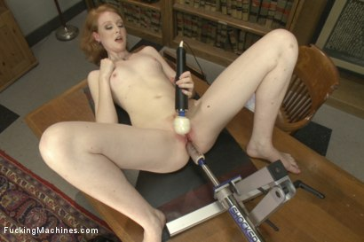 Photo number 9 from BRAND NEW NEVER SHOT PORN BEFORE RED HEAD HOTTIE WITH TIGHT PUSSY! shot for Fucking Machines on Kink.com. Featuring Nathalie Lawson in hardcore BDSM & Fetish porn.
