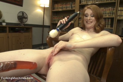 Photo number 15 from BRAND NEW NEVER SHOT PORN BEFORE RED HEAD HOTTIE WITH TIGHT PUSSY! shot for Fucking Machines on Kink.com. Featuring Nathalie Lawson in hardcore BDSM & Fetish porn.