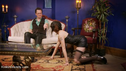 Photo number 11 from Dominance & Submission Basics (Clothing & Orgasm Control / Humiliation) shot for Kink University on Kink.com. Featuring Terralthra  and Ransom in hardcore BDSM & Fetish porn.