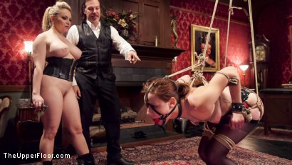 Photo number 12 from Latex Slave Girl Anally Debased By Dick Hungry Governess shot for The Upper Floor on Kink.com. Featuring John Strong, Aiden Starr and Audrey Holiday in hardcore BDSM & Fetish porn.