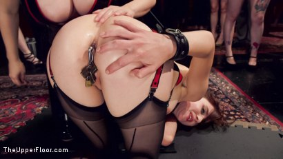 Photo number 18 from Latex Slave Girl Anally Debased By Dick Hungry Governess shot for The Upper Floor on Kink.com. Featuring John Strong, Aiden Starr and Audrey Holiday in hardcore BDSM & Fetish porn.