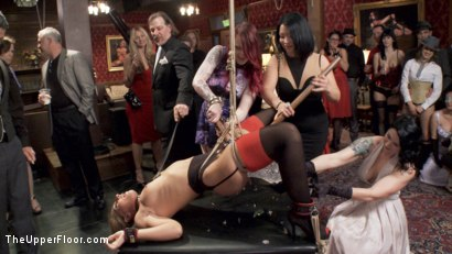 Photo number 3 from Two Slutty Slaves Service Cock shot for The Upper Floor on Kink.com. Featuring Maestro, Savannah Fox and Amarna Miller in hardcore BDSM & Fetish porn.