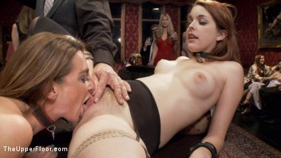 Photo number 8 from Two Slutty Slaves Service Cock shot for The Upper Floor on Kink.com. Featuring Maestro, Savannah Fox and Amarna Miller in hardcore BDSM & Fetish porn.