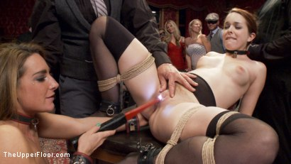 Photo number 6 from Two Slutty Slaves Service Cock shot for The Upper Floor on Kink.com. Featuring Maestro, Savannah Fox and Amarna Miller in hardcore BDSM & Fetish porn.