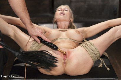 Photo number 12 from Curvy Big Tits Blonde Bombshell Bound and Molested shot for Hogtied on Kink.com. Featuring Christie Stevens in hardcore BDSM & Fetish porn.