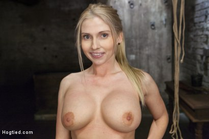 Photo number 15 from Curvy Big Tits Blonde Bombshell Bound and Molested shot for Hogtied on Kink.com. Featuring Christie Stevens in hardcore BDSM & Fetish porn.