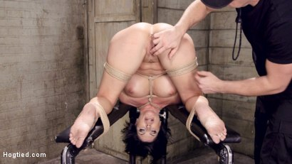 Photo number 8 from Bound Huge Fake Tit MILF shot for Hogtied on Kink.com. Featuring Shay Fox in hardcore BDSM & Fetish porn.