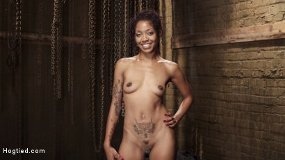 Photo number 1 from Squirting Ebony Slut shot for Hogtied on Kink.com. Featuring Lotus Lain in hardcore BDSM & Fetish porn.