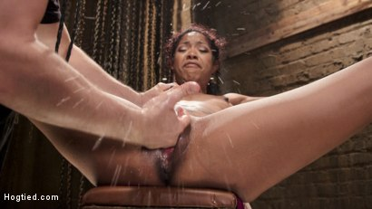 Photo number 5 from Squirting Ebony Slut shot for Hogtied on Kink.com. Featuring Lotus Lain in hardcore BDSM & Fetish porn.