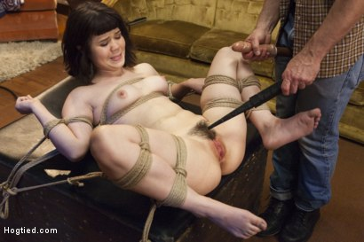 Photo number 12 from Cock Teasing Step Daughter Learns a Lesson shot for Hogtied on Kink.com. Featuring Yhivi in hardcore BDSM & Fetish porn.