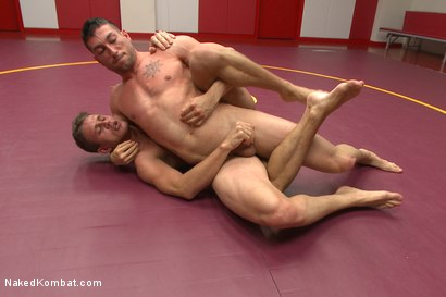 Photo number 5 from Top Cock-Sports Gear Smackdown Series: Which MMA Fighter Gets Fucked? shot for Naked Kombat on Kink.com. Featuring Alexander Gustavo and Casey More in hardcore BDSM & Fetish porn.