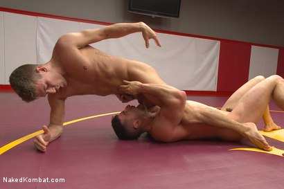 Photo number 9 from Top Cock-Sports Gear Smackdown Series: Which MMA Fighter Gets Fucked? shot for Naked Kombat on Kink.com. Featuring Alexander Gustavo and Casey More in hardcore BDSM & Fetish porn.