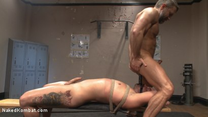Photo number 12 from Top Cock: Muscled gods oil up their ripped bodies and fight to fuck! shot for Naked Kombat on Kink.com. Featuring Dirk Caber and Logan Blake in hardcore BDSM & Fetish porn.