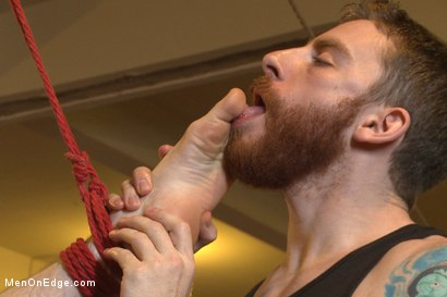 Photo number 12 from Straight southern stud's huge cock is almost too much to swallow shot for Men On Edge on Kink.com. Featuring Brian Strowkes in hardcore BDSM & Fetish porn.