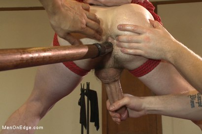 Photo number 10 from Straight southern stud's huge cock is almost too much to swallow shot for Men On Edge on Kink.com. Featuring Brian Strowkes in hardcore BDSM & Fetish porn.