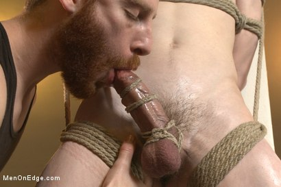 Photo number 7 from Straight southern stud's huge cock is almost too much to swallow shot for Men On Edge on Kink.com. Featuring Brian Strowkes in hardcore BDSM & Fetish porn.