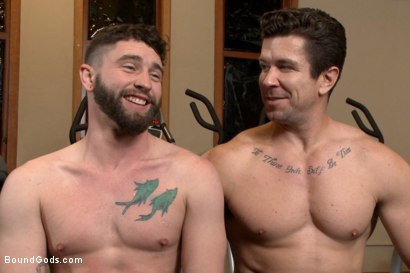Photo number 15 from Hot Gym Stud Tormented and Fucked by the Creepy Handyman shot for Bound Gods on Kink.com. Featuring Trenton Ducati and Jackson Fillmore in hardcore BDSM & Fetish porn.