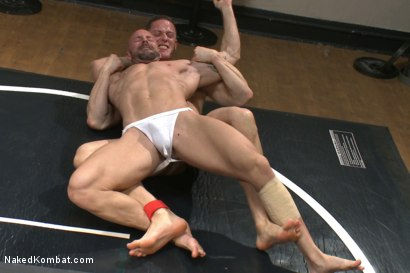 Photo number 2 from Top Cock: Loser takes a hard machine fucking up his ass! shot for Naked Kombat on Kink.com. Featuring Ivan Gregory and Mitch Vaughn in hardcore BDSM & Fetish porn.