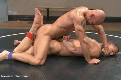 Photo number 10 from Top Cock: Loser takes a hard machine fucking up his ass! shot for Naked Kombat on Kink.com. Featuring Ivan Gregory and Mitch Vaughn in hardcore BDSM & Fetish porn.