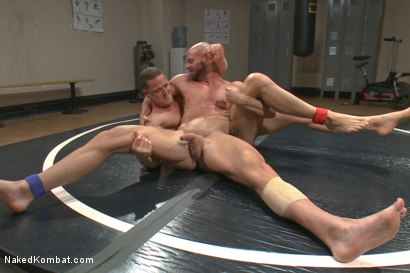 Photo number 6 from Top Cock: Loser takes a hard machine fucking up his ass! shot for Naked Kombat on Kink.com. Featuring Ivan Gregory and Mitch Vaughn in hardcore BDSM & Fetish porn.