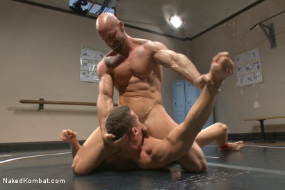 Photo number 7 from Top Cock: Loser takes a hard machine fucking up his ass! shot for Naked Kombat on Kink.com. Featuring Ivan Gregory and Mitch Vaughn in hardcore BDSM & Fetish porn.