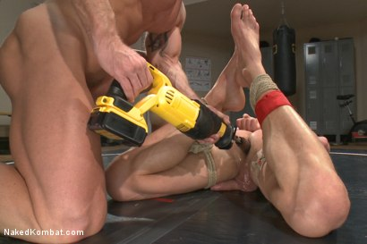 Photo number 9 from Top Cock: Loser takes a hard machine fucking up his ass! shot for Naked Kombat on Kink.com. Featuring Ivan Gregory and Mitch Vaughn in hardcore BDSM & Fetish porn.