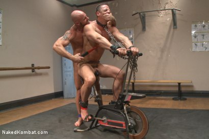 Photo number 14 from Top Cock: Loser takes a hard machine fucking up his ass! shot for Naked Kombat on Kink.com. Featuring Ivan Gregory and Mitch Vaughn in hardcore BDSM & Fetish porn.
