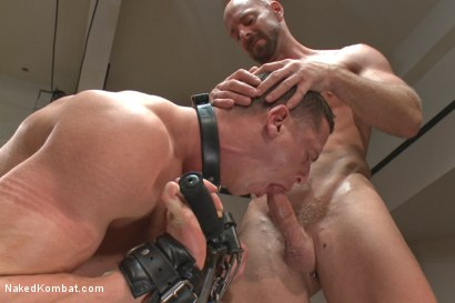 Photo number 8 from Top Cock: Loser takes a hard machine fucking up his ass! shot for Naked Kombat on Kink.com. Featuring Ivan Gregory and Mitch Vaughn in hardcore BDSM & Fetish porn.