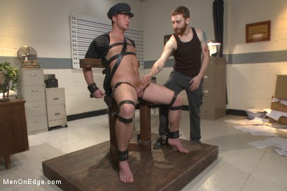 Photo number 1 from Officer Maguire edged and gets an electric buttplug for the first time shot for Men On Edge on Kink.com. Featuring Connor Maguire in hardcore BDSM & Fetish porn.