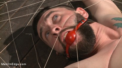 Photo number 3 from Suspended in a center split, helpless uncut stud blows a huge load! shot for Men On Edge on Kink.com. Featuring Jackson Fillmore in hardcore BDSM & Fetish porn.