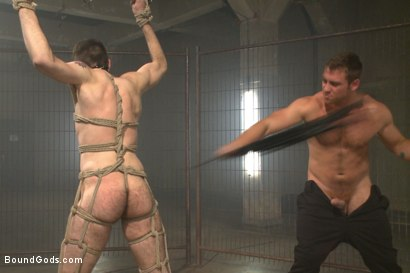 Photo number 8 from Tormented with mousetraps and ass fucked on a motorcycle  shot for Bound Gods on Kink.com. Featuring Patrick Isley and Connor Maguire in hardcore BDSM & Fetish porn.