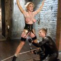 Frustrated gimp makes his mistress suffer through a lesson in submission, bondage, and anal fucking