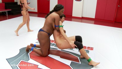 Photo number 1 from Voluptuous Ebony Rookie takes on skinny rookie with a heart of a fighter shot for Ultimate Surrender on Kink.com. Featuring Lisa Tiffian and Vivi Marie in hardcore BDSM & Fetish porn.