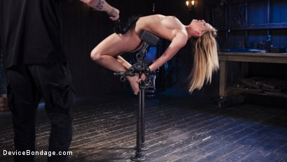 Photo number 12 from Hot Blonde in Brutal Device Bondage shot for Device Bondage on Kink.com. Featuring Cherie Deville in hardcore BDSM & Fetish porn.