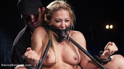 Photo number 2 from Hot Blonde in Brutal Device Bondage shot for Device Bondage on Kink.com. Featuring Cherie Deville in hardcore BDSM & Fetish porn.