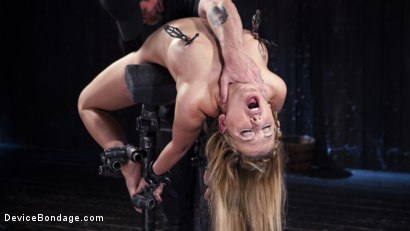 Photo number 9 from Hot Blonde in Brutal Device Bondage shot for Device Bondage on Kink.com. Featuring Cherie Deville in hardcore BDSM & Fetish porn.