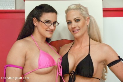 Photo number 11 from Anal Surrender! Sex Wrestling with Ass Smoother and Ass Fingering shot for Everything Butt on Kink.com. Featuring Penny Barber and Holly Heart in hardcore BDSM & Fetish porn.