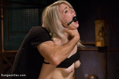 Photo number 3 from Tied Up and Fucked Hard shot for Dungeon Sex on Kink.com. Featuring Maestro and Ella Nova in hardcore BDSM & Fetish porn.