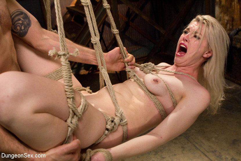 Tied up bondage kinky sex
