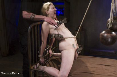 Photo number 11 from The Pain Slut and The Princess shot for Sadistic Rope on Kink.com. Featuring Delirious Hunter and Phoenix Marie in hardcore BDSM & Fetish porn.