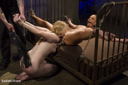 Photo number 3 from The Pain Slut and The Princess shot for Sadistic Rope on Kink.com. Featuring Delirious Hunter and Phoenix Marie in hardcore BDSM & Fetish porn.