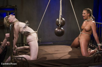 Photo number 6 from The Pain Slut and The Princess shot for Sadistic Rope on Kink.com. Featuring Delirious Hunter and Phoenix Marie in hardcore BDSM & Fetish porn.