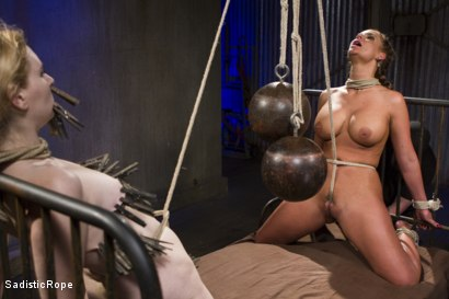 Photo number 7 from The Pain Slut and The Princess shot for Sadistic Rope on Kink.com. Featuring Delirious Hunter and Phoenix Marie in hardcore BDSM & Fetish porn.