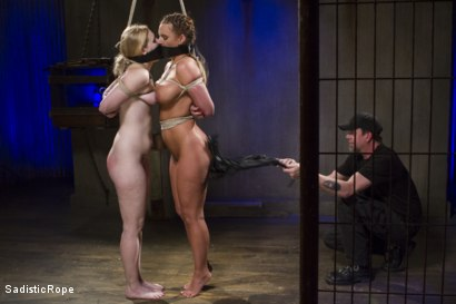 Photo number 13 from The Pain Slut and The Princess shot for Sadistic Rope on Kink.com. Featuring Delirious Hunter and Phoenix Marie in hardcore BDSM & Fetish porn.
