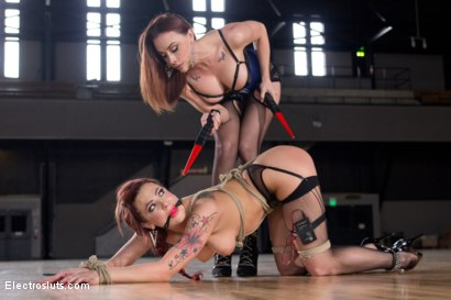 Photo number 14 from Chanel Preston Electro Fucks Dahlia Sky  shot for Electro Sluts on Kink.com. Featuring Chanel Preston and Dahlia Sky in hardcore BDSM & Fetish porn.