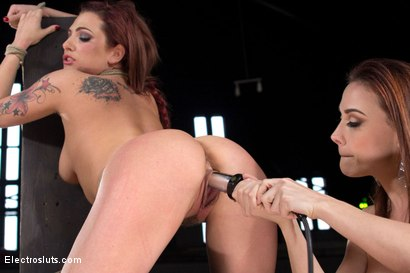 Photo number 16 from Chanel Preston Electro Fucks Dahlia Sky  shot for Electro Sluts on Kink.com. Featuring Chanel Preston and Dahlia Sky in hardcore BDSM & Fetish porn.