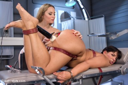 Photo number 9 from Lesbian Electro Sex Therapy shot for Electro Sluts on Kink.com. Featuring Aiden Starr and Rose Rhapsody in hardcore BDSM & Fetish porn.