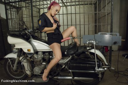 Photo number 2 from Big, Bad, Kristina Rose - fucks on a COP MOTORCYCLE! shot for Fucking Machines on Kink.com. Featuring Kristina Rose in hardcore BDSM & Fetish porn.