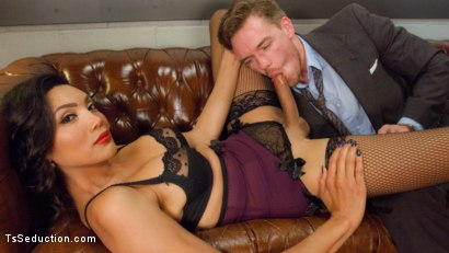 Photo number 2 from Devastatingly Gorgeous Secretary Punishes Sexist Boss Pig! shot for TS Seduction on Kink.com. Featuring Yasmin Lee and Lucas Knight in hardcore BDSM & Fetish porn.